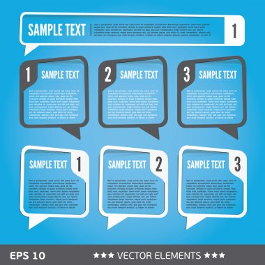 Text sale bubbles. Vector text tags