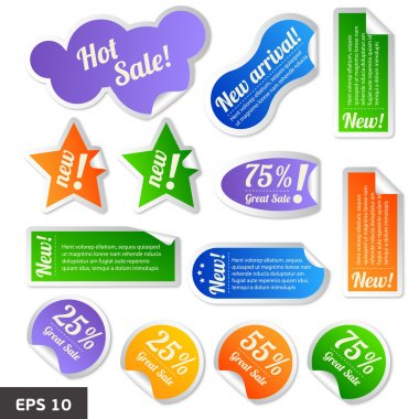Discount tags. Sale stickers