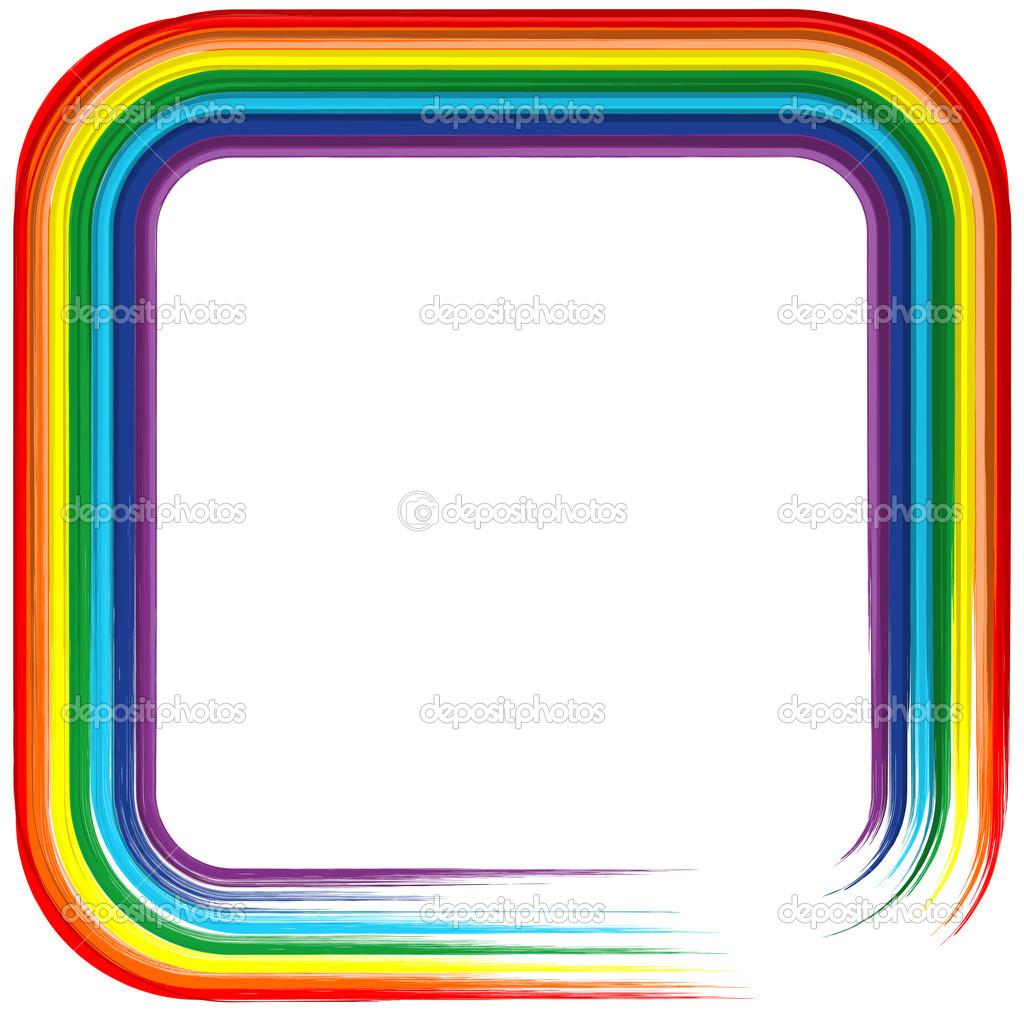 Hintergrund für die Kunst Rainbow Frame-abstrakten Vektor 4 ...