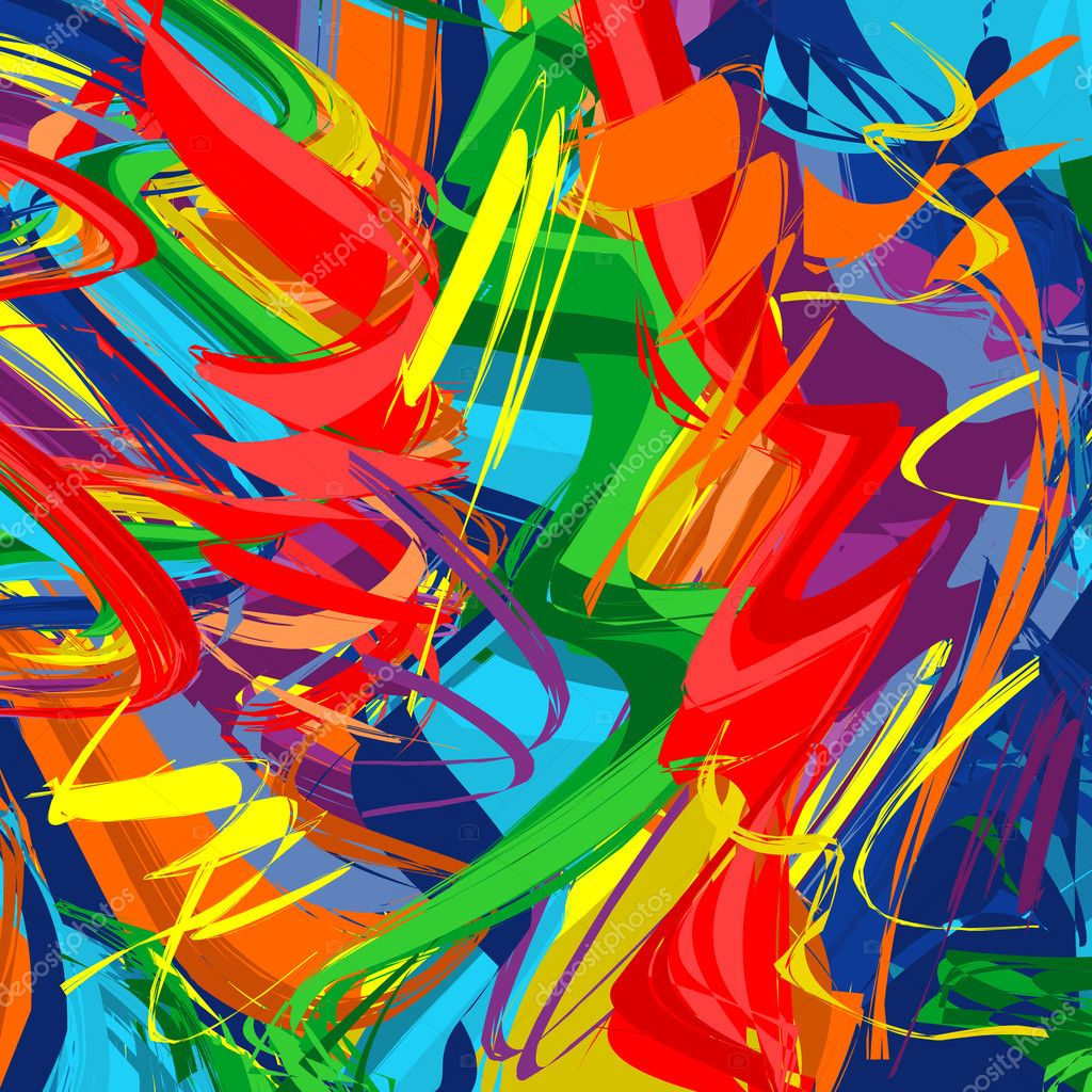 Abstract raibow colorful vector line background