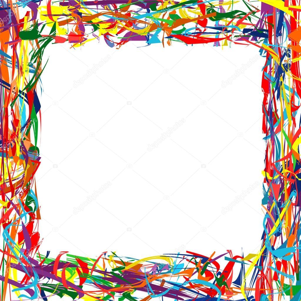 arco iris resumen curvado líneas marco colorido fondo — Archivo ...