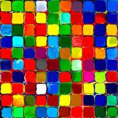 Photo Abstract rainbow colorful tiles mozaic painting geometric pallette pattern background 3