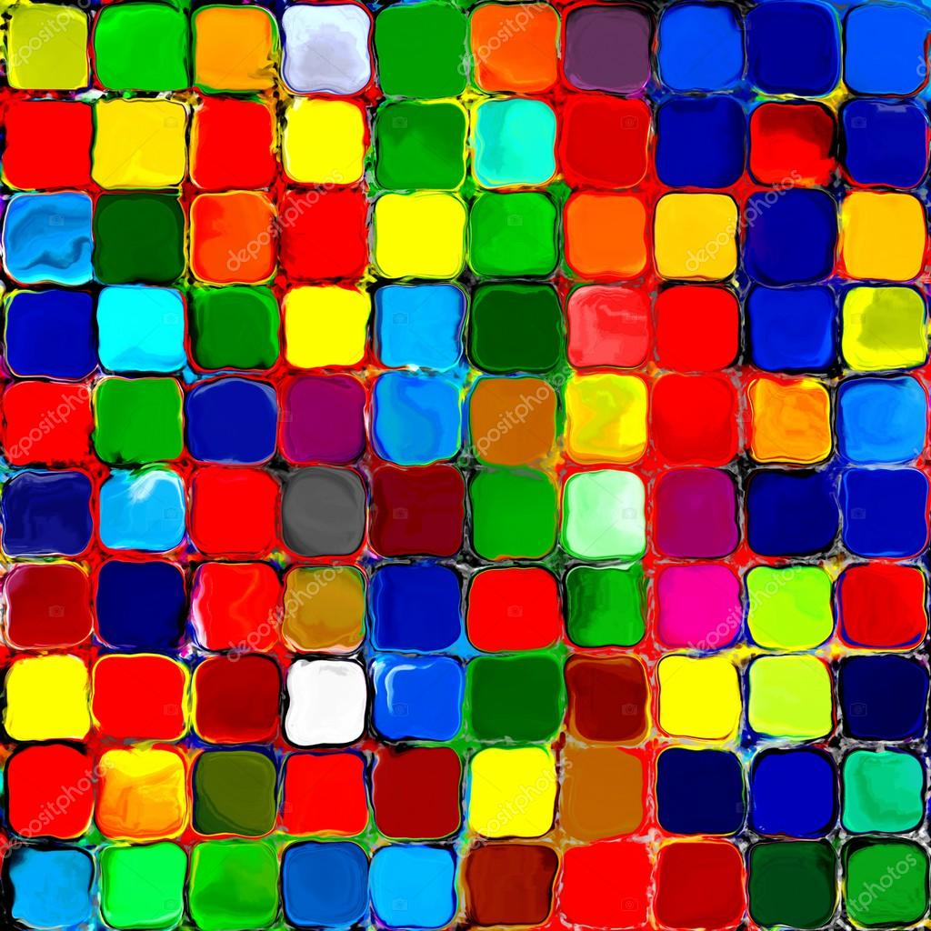 Wonderful Arcobaleno Astratto Colorato Piastrelle Mozaic Sfondo Di Pittura Geometrica  Pallette Modello U2014 Foto Di Dragovich
