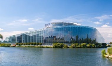 European Parliament building in Strasbourg, France