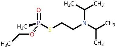 Nerve agent VX (chemical weapon) structural formula