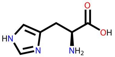 Essential amino acid histidine structural formula