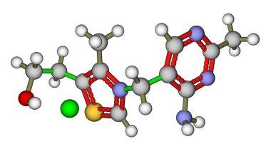 Thiamine (vitamin B1) molecular structure