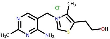 Thiamine (vitamin B1) structural formula