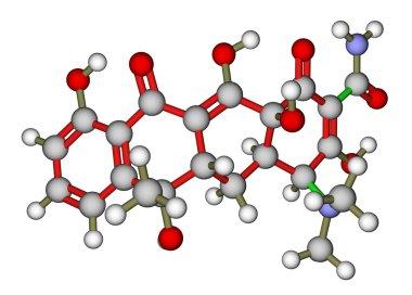 Antibiotic tetracycline molecular structure