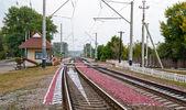 Fotografie Bahnübergang in der Ukraine