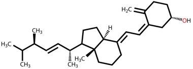 Vitamin D2 (Ergocalciferol) structural formula