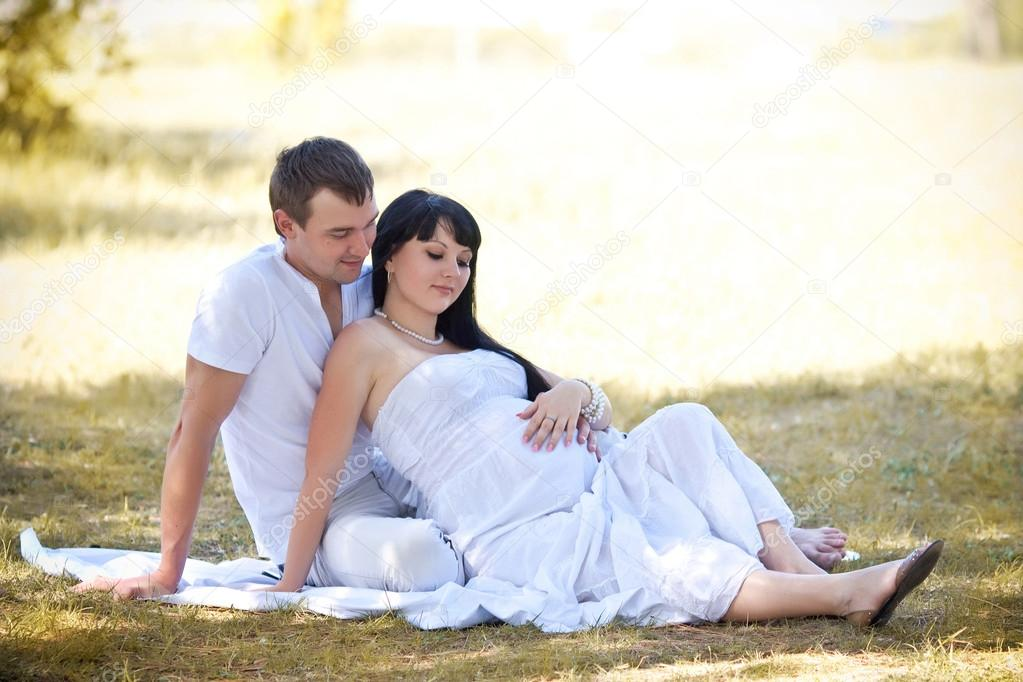 Husband And Wife Maternity Expecting A Child Or Baby