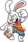Photo Cartoon white rabbit