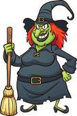Böse Karikatur Hexe