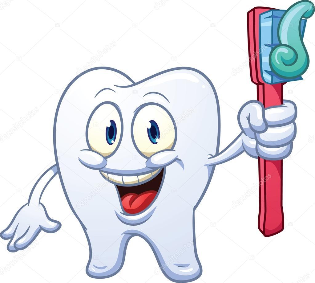 1 Toothed Cartoon Characters : Cartoon tooth — stock vector memoangeles