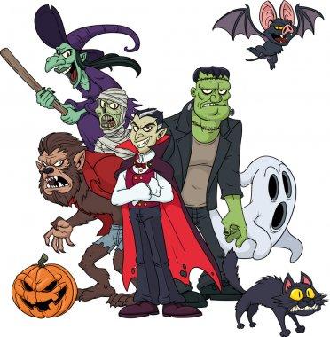 Classic Halloween characters