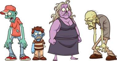 Cartoon zombies.