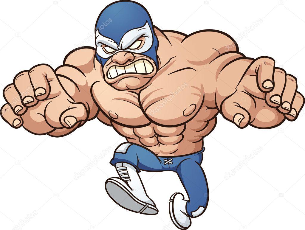 mexican wrestler stock vector memoangeles 14612729 rh depositphotos com Wrestling Stance Clip Art High School Wrestlers Clip Art