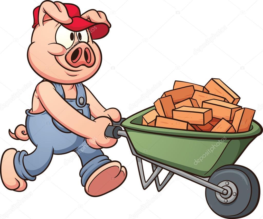 女人用快乐器的图片_猪用独轮手推车 — 图库矢量图像© memoangeles #17769701