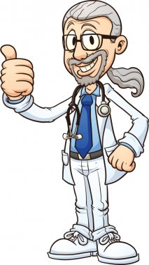 Medical doctor. Vector clip art illustration with simple gradients. All in a single layer. clip art vector