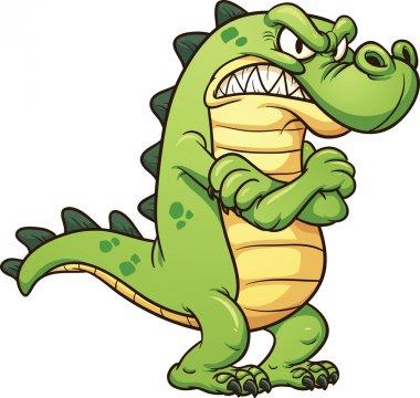 Grumpy crocodile