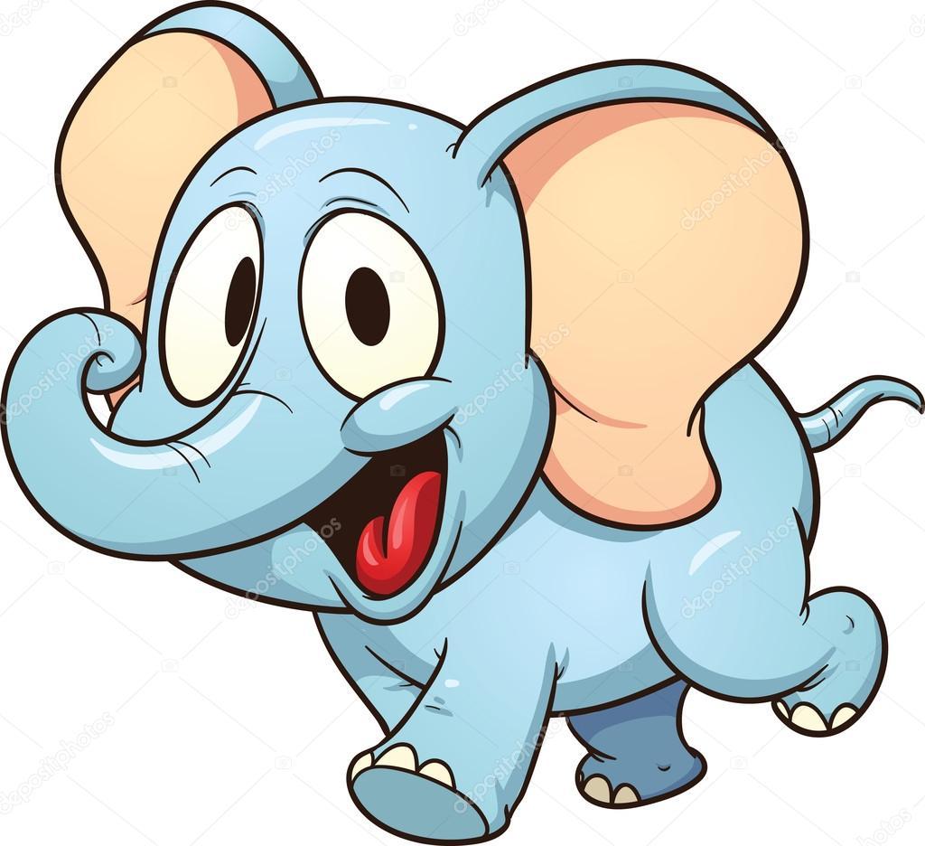cartoon elephant u2014 stock vector memoangeles 19494347