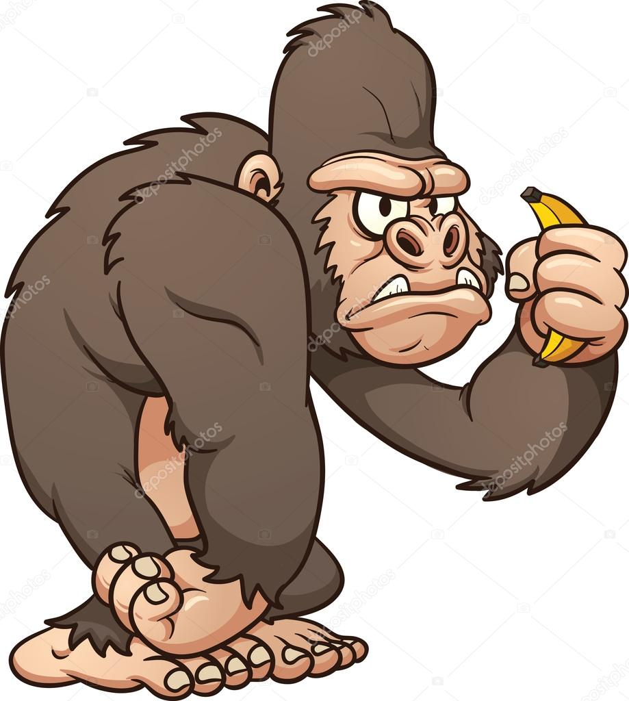 Cartoon gorilla — Stock Vector © memoangeles #19530467