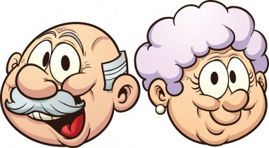 Cartoon grandparents