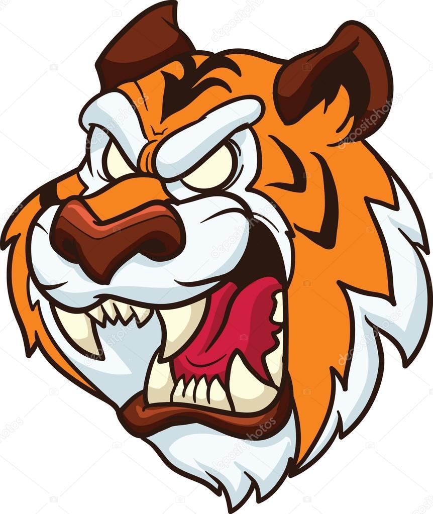 tiger mascot stock vector memoangeles 21204111 rh depositphotos com clemson tiger mascot clipart