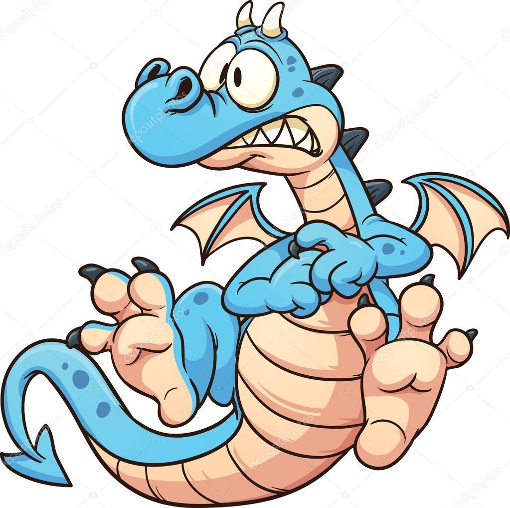 青いドラゴン ストックベクター Memoangeles 21268205