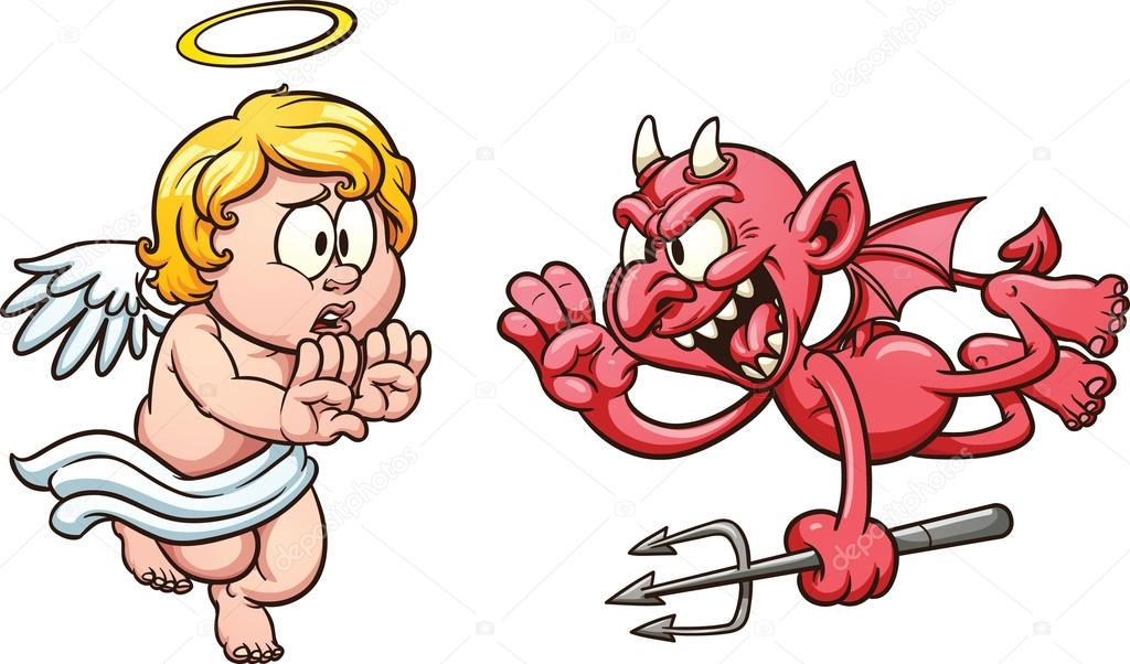 Ange et d mon image vectorielle memoangeles 21542653 - Dessin ange demon ...
