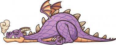 Lazy purple dragon