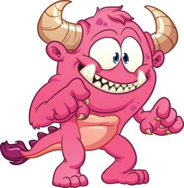Cartoon pink monster