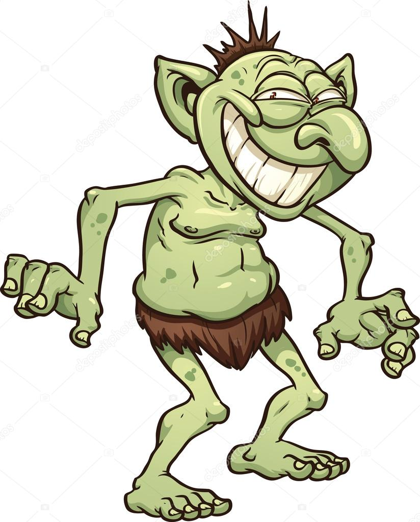 Tecknade troll — stock vektor memoangeles