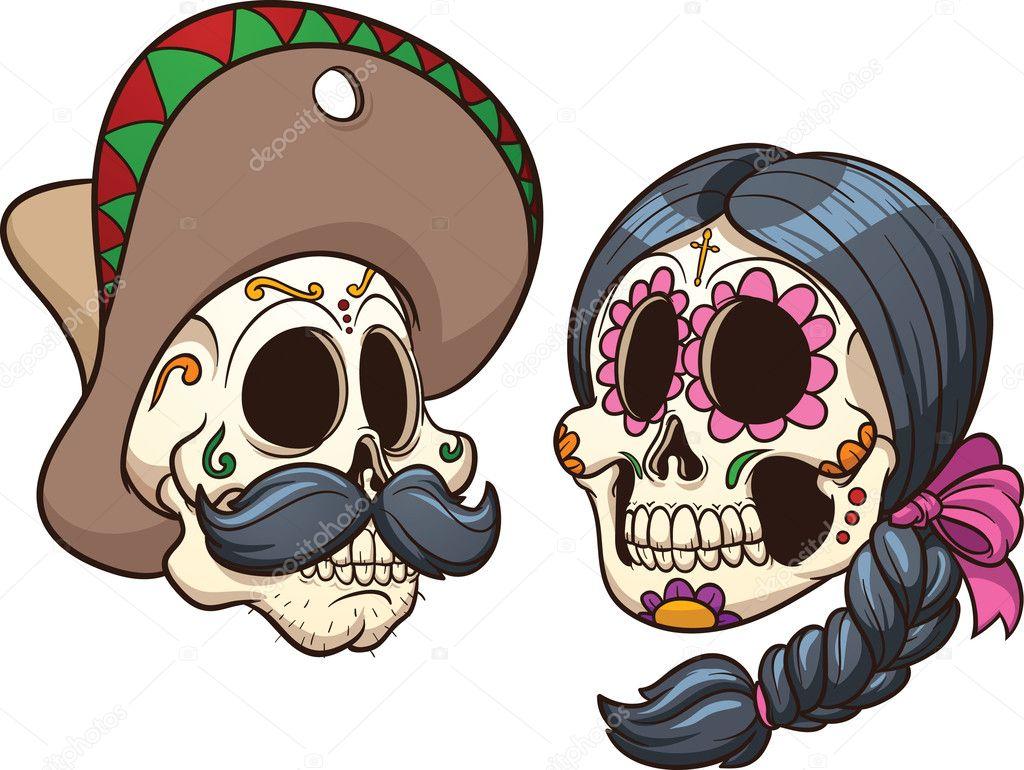 Calaveras Mexicanas Imágenes Vectoriales Ilustraciones Libres De
