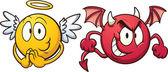 anděl a ďábel emotikony