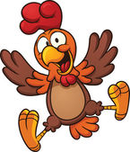 Fotografie šťastný karikatura kuře