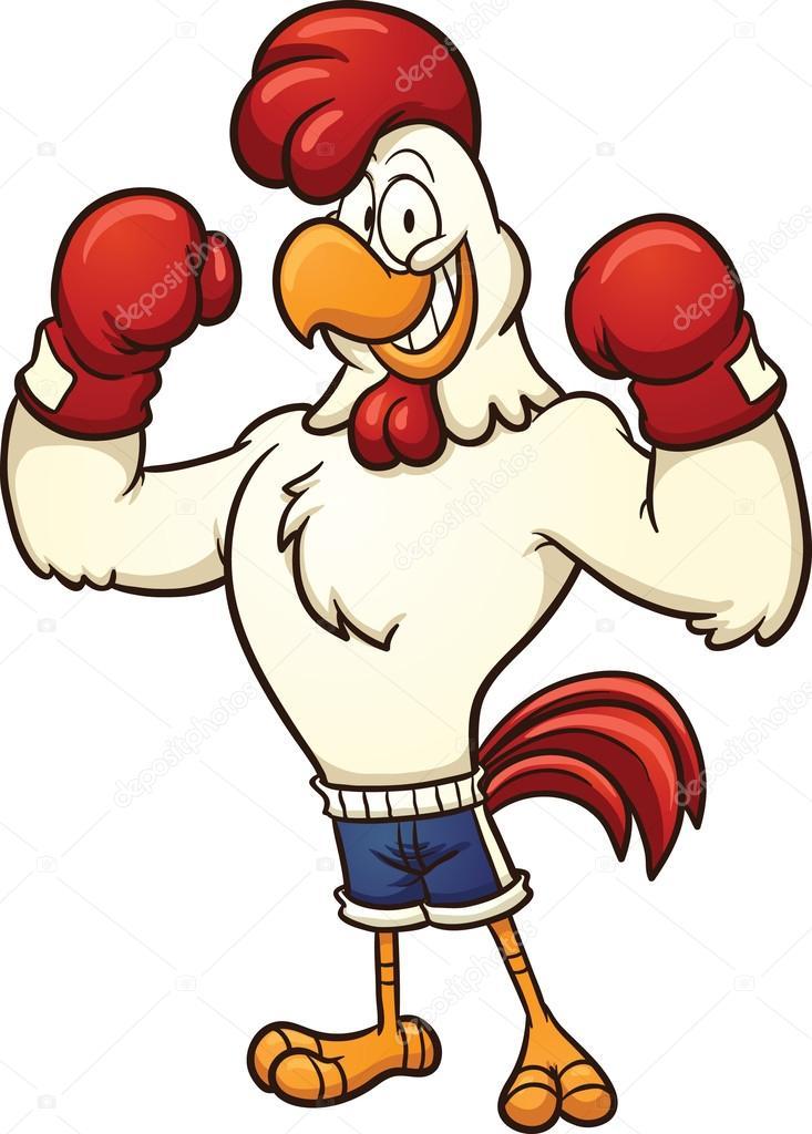 Pollo de boxeo — vector stock memoangeles