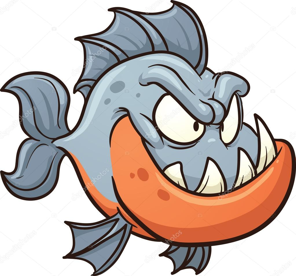 Piranha Stock Vectors, Royalty Free Piranha Illustrations ...