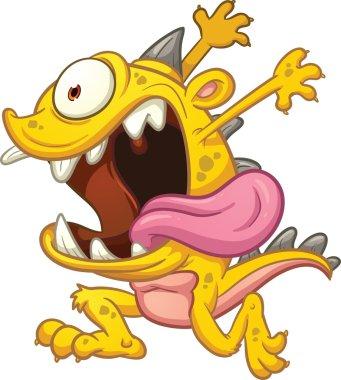 Crazy yellow running monster