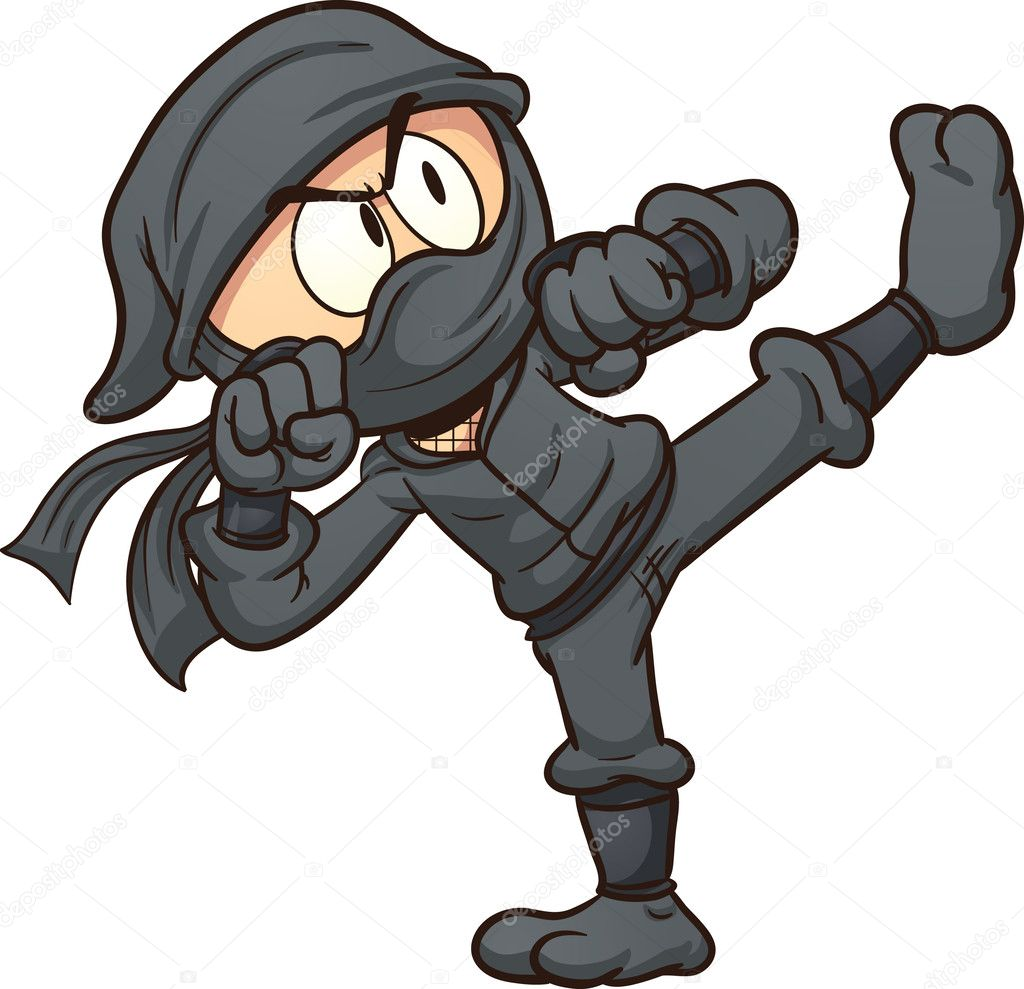 Cartone animato ninja u vettoriali stock memoangeles