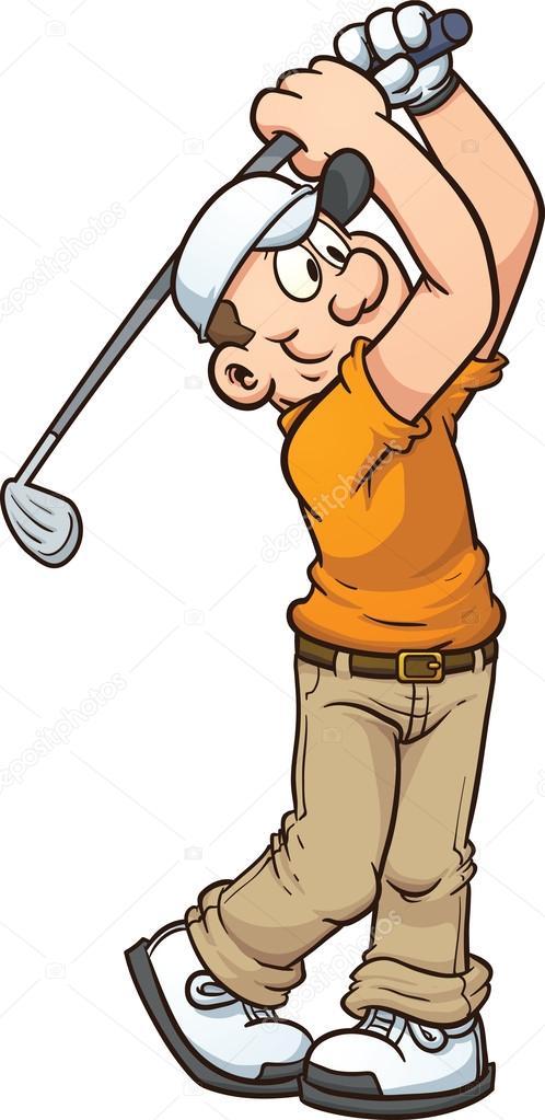 Golfer Drinking Wine