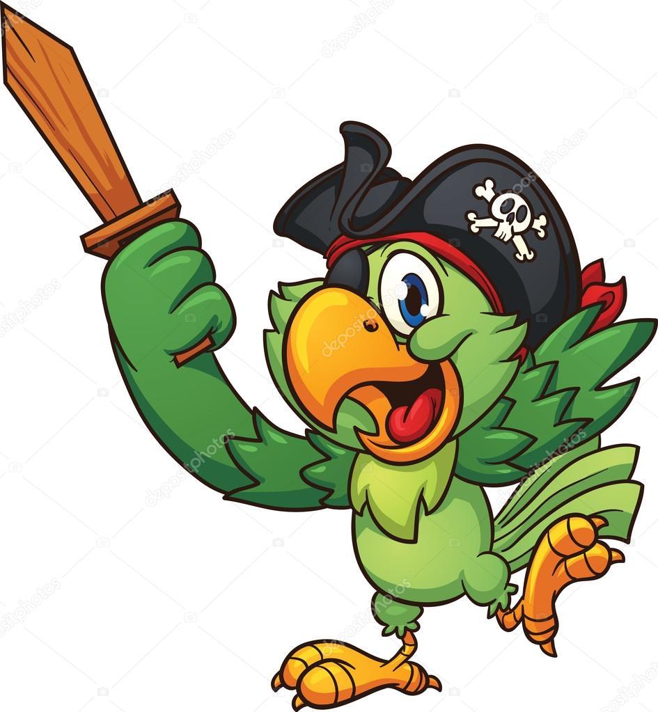Pirate Parrot Stock Vector Memoangeles 48644681