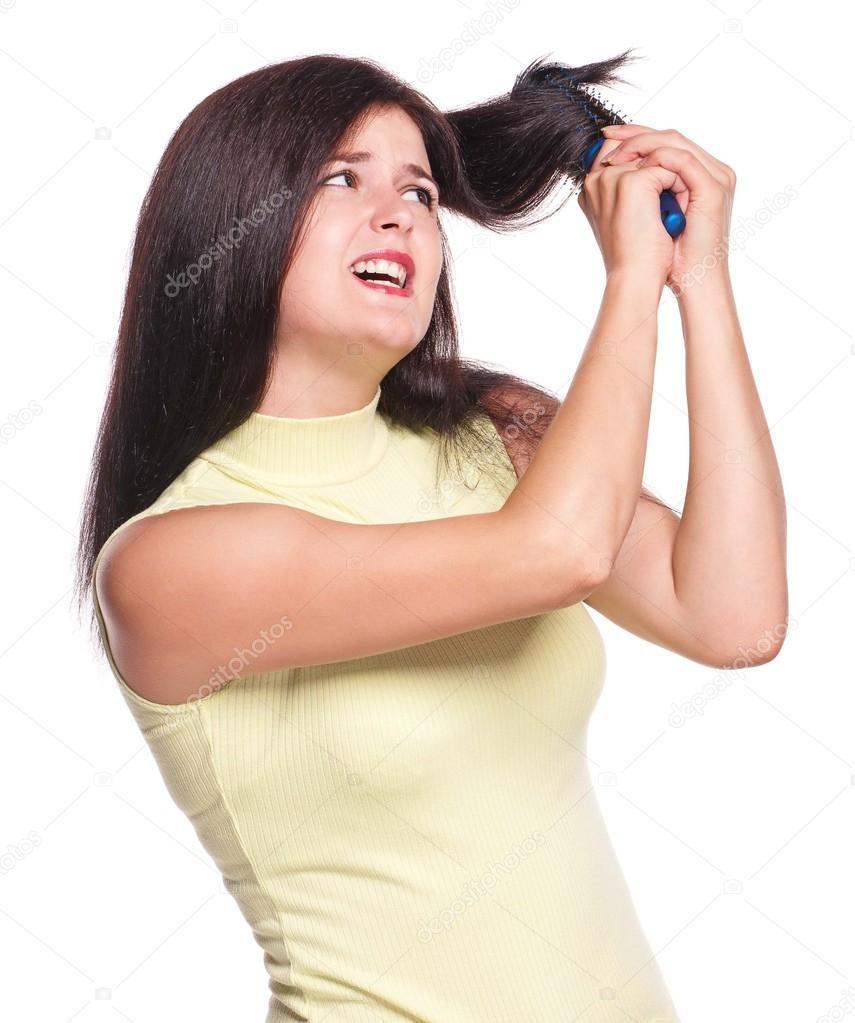 Фото разъяренных девушек брюнеток — pic 15