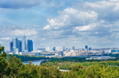 Moscow City, the view from Sparrow Hills