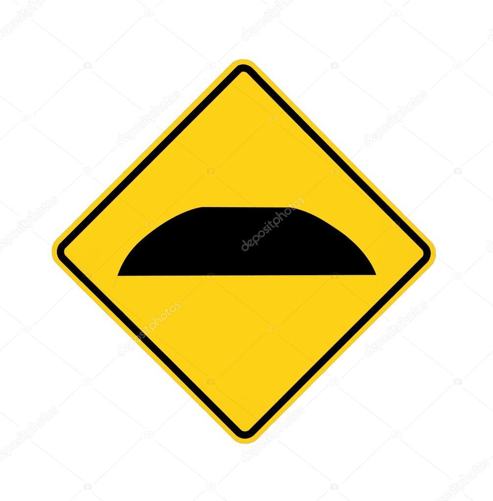 Señal de tráfico - reductor de velocidad —  Fotos de Stock