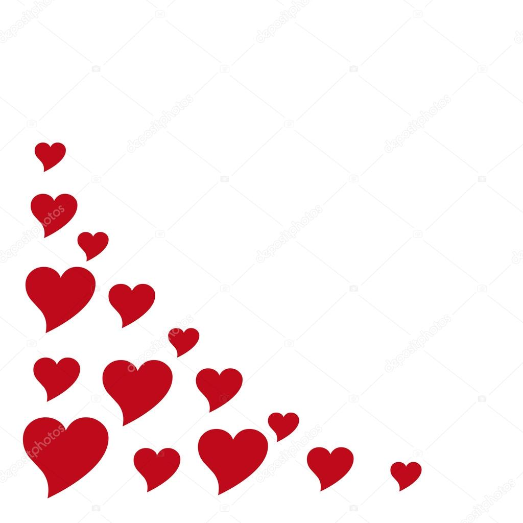 Hearts - left corner frame design — Stock Photo © smontgom65 #12075129