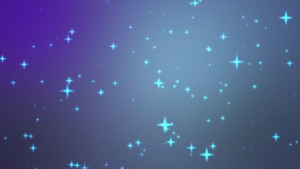 csillogó csillagok sziluettek