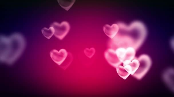 Shining hearts shapes