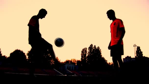 fotbal západ slunce